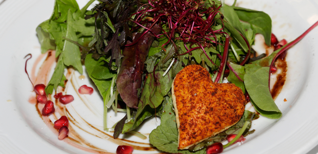 Green leaves Salad with Pomegranate