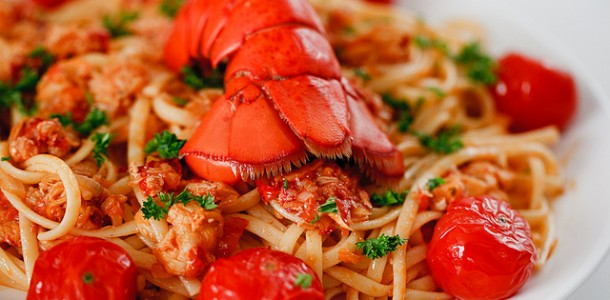 Online recipe from htmi hotel and tourism management for How to make lobster pasta