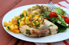 Grilled-Swordfish-with-Pineapple-Peach-Salsa
