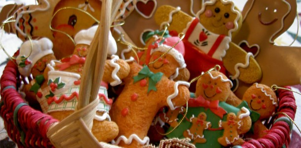 Gingerbread Man Christmas Foods Wallpapers 1024x768